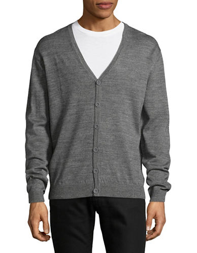 Bruun And Stengade Slim-Fit Long Sleeve Cardigan-GREY-Small