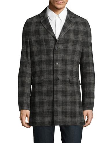 Bruun And Stengade Check Wool-Blend Plaid Jacket-GREY-Large