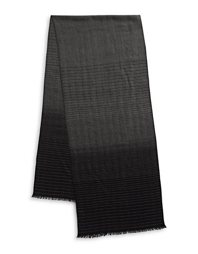 Bruun And Stengade Faded Textured Scarf-BLACK-One Size