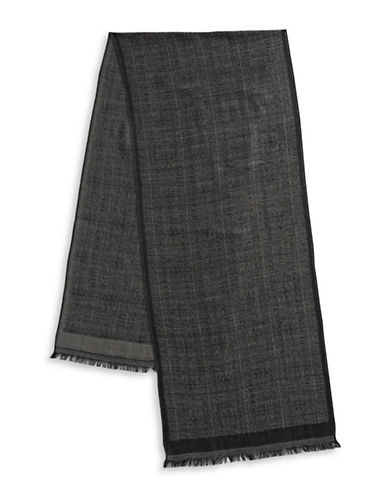 Bruun And Stengade Faded Textured Scarf-GREY-One Size