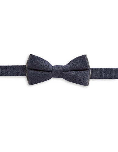 Bruun And Stengade Textured Cotton Bow Tie-NAVY-One Size
