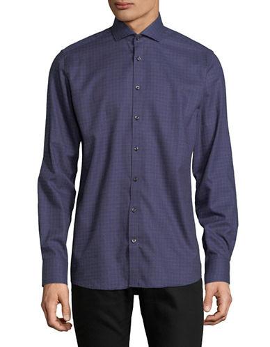 Bruun And Stengade Mod Telles Checkered Sport Shirt-BLUE-EU 44/US X-Large