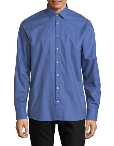 Bruun And Stengade Solid Sport Shirt-BLUE-EU 45/US XX-Large