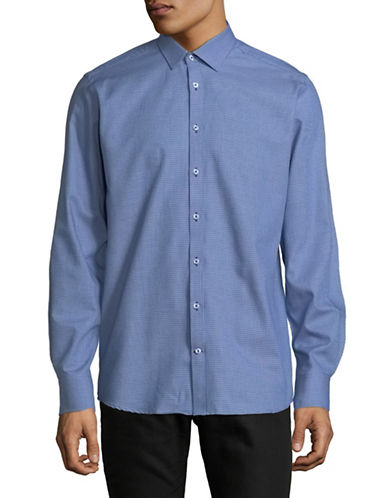 Bruun And Stengade Solid Sport Shirt-NAVY-EU 38/US Small