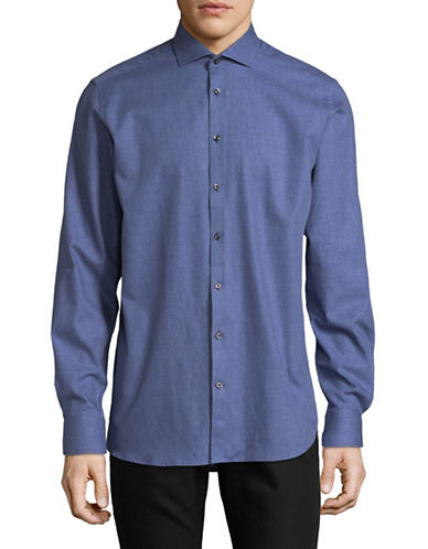 Bruun And Stengade Wendell Cotton Sport Shirt-BLUE-EU 42/US Large