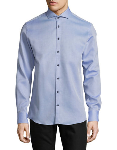 Bruun And Stengade Dusty Cotton Slim Shirt-BLUE-EU 42/US Large