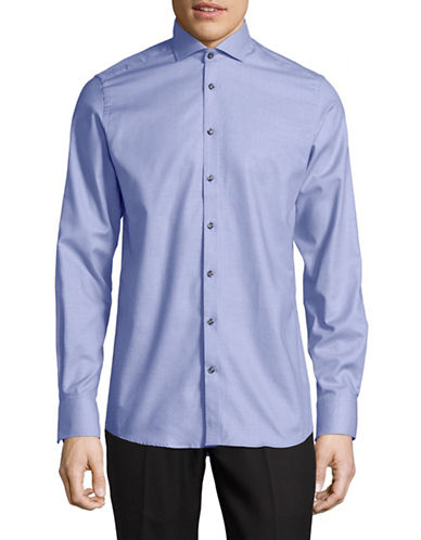 Bruun And Stengade Modern-Fit Cotton Sport Shirt-BLUE-EU 40/US Medium