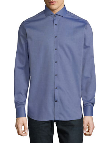 Bruun And Stengade Volland Modern-Fit Cotton Sport Shirt-BLUE-EU 44/US X-Large