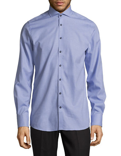 Bruun And Stengade Modern-Fit Cotton Sport Shirt-BLUE-EU 44/US X-Large
