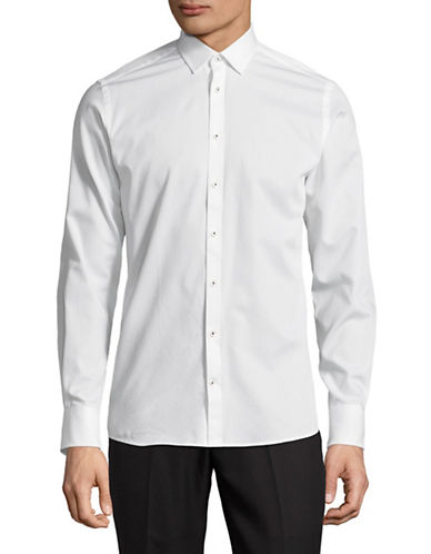 Bruun And Stengade Slim-Fit Cotton Sport Shirt-WHITE-EU 42/US Large