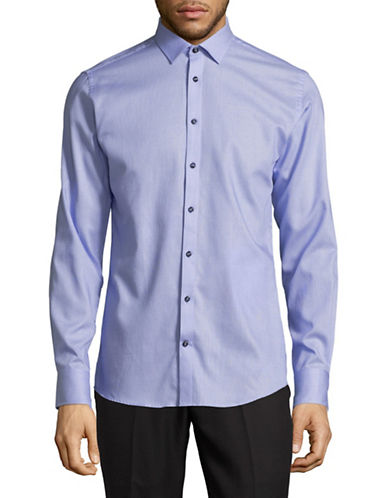 Bruun And Stengade Slim-Fit Cotton Sport Shirt-BLUE-EU 42/US Large