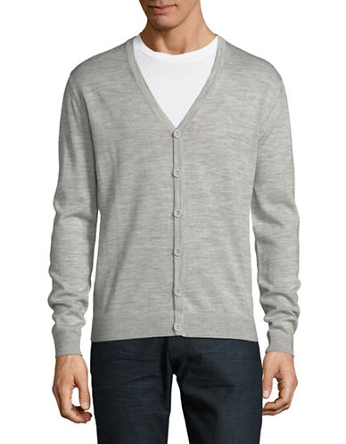 Bruun And Stengade Bresia Graph Wool-Blend Cardigan-LIGHT GREY-Large