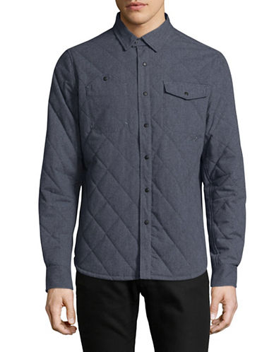 Nautica Quilted Jacket-BLUE-Small