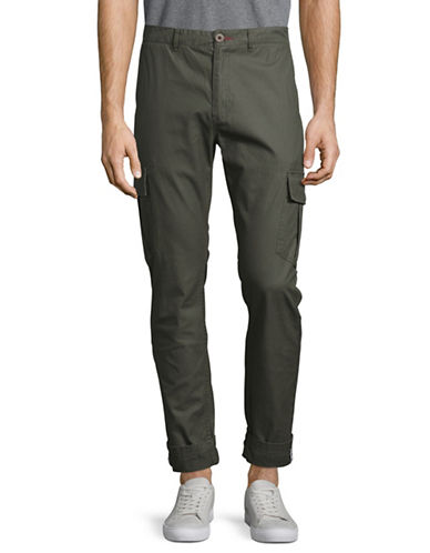 Nautica Military Cargo Pants-GREEN-30