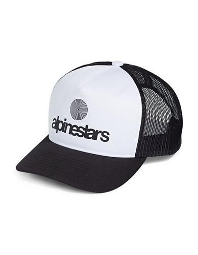 Nautica Origin Logo Trucker Hat-BLACK-One Size