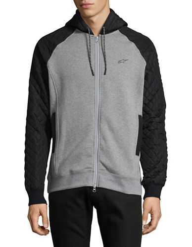 Nautica Mixed Media Zip-Up-GREY-Medium