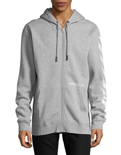 Nautica Fleece Lined Logo Hoodie-GREY-Large
