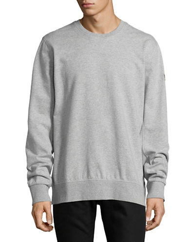 Nautica Side Zip Crew Neck Sweater-GREY-Large