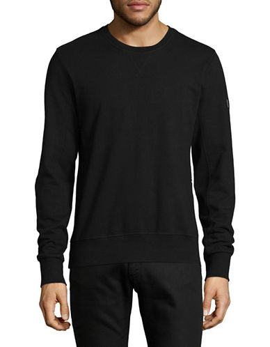 Nautica Side Zip Crew Neck Sweater-BLACK-X-Large