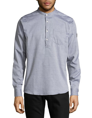 Nautica Collarless Tunic-GREY-Small