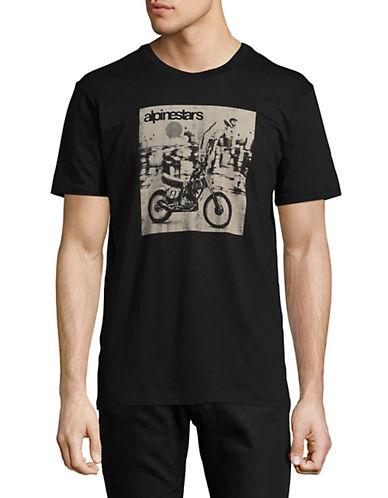 Alpinestars Stunt Premium Graphic T-Shirt-BLACK-Medium