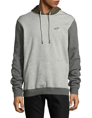 Alpinestars Overshot Fleece Pullover Hoodie-LIGHT GREY-Medium