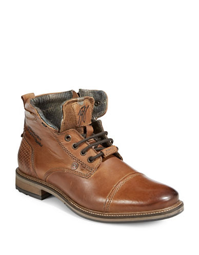 Bugatti Marcello Leather Street Boots-COGNAC-EU 46/US 13