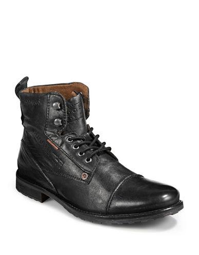 Bugatti Streetwear Ankle Boots-BLACK-EU 43/US 10