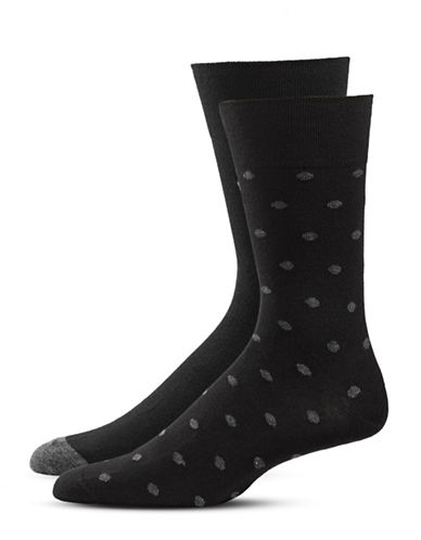 Bugatti Two-Pack Preppy Dots Socks Set-BLACK-7-9