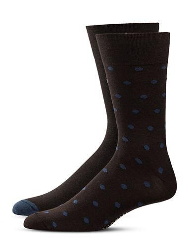 Bugatti Two-Pack Preppy Dots Socks Set-BROWN-10-13