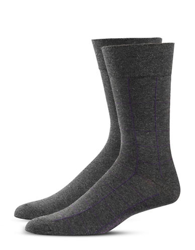Bugatti Two-Pack Window Check Socks Set-BLACK-10-13
