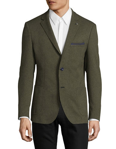 A Fish Named Fred Fitted Blazer-GREEN-52