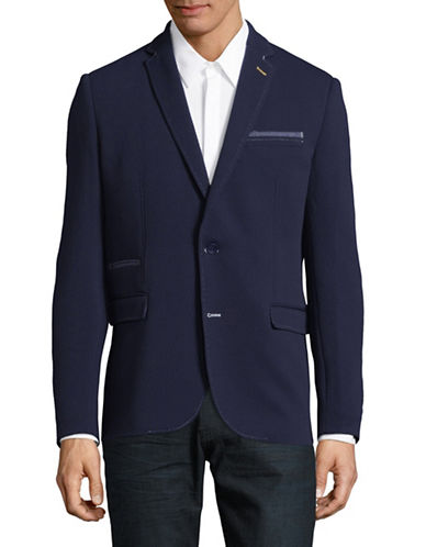 A Fish Named Fred Round Textured Sports Jacket-NAVY-52