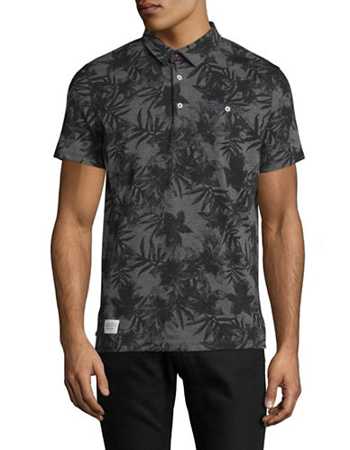 A Fish Named Fred Floral Print Polo-GREY-Large