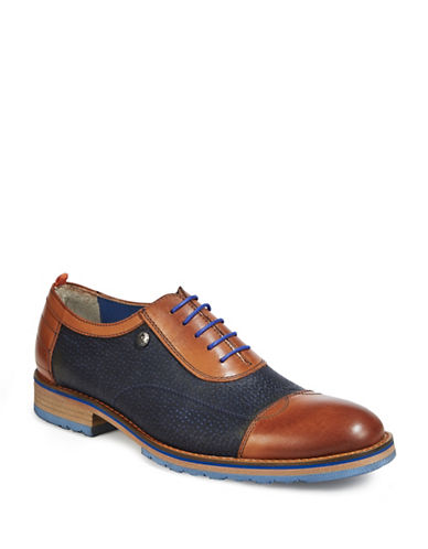 A Fish Named Fred Leather Oxford Shoes-NAVY-EU 40/US 7