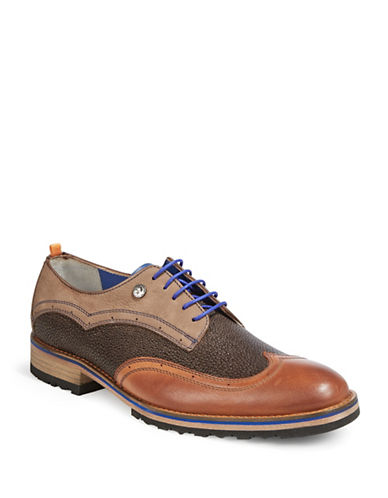 A Fish Named Fred Wingtip Derby Shoes-DARK BROWN-EU 46/US 13