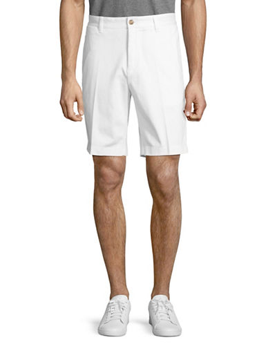 Nautica Slim-Fit Cotton Shorts-WHITE-36