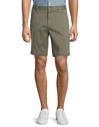 Nautica Slim-Fit Cotton Shorts-GREEN-36