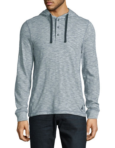 Nautica Heathered Cotton Jersey Hoodie-ANCHOR BLUE-Large