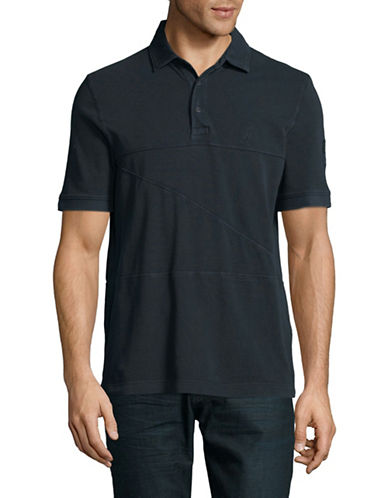 Nautica Short-Sleeve Cotton Polo-NAVY-X-Large