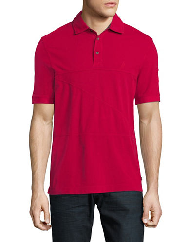 Nautica Short-Sleeve Cotton Polo-RED-Medium