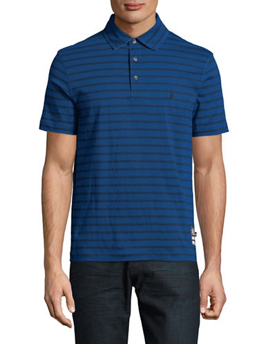 Nautica Striped Short-Sleeve Cotton Polo-BLUE-X-Large