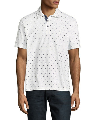 Nautica Printed Short-Sleeve Cotton Polo-WHITE-Small