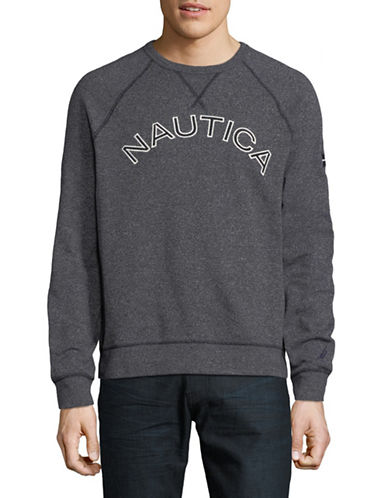 Nautica Graphic Logo Sweater-NAVY-Large