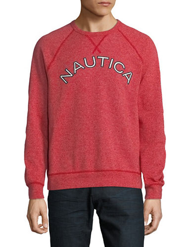 Nautica Graphic Logo Sweater-RED-Medium