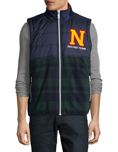 Nautica Lil Yachty Fleece Vest-GREEN-Large