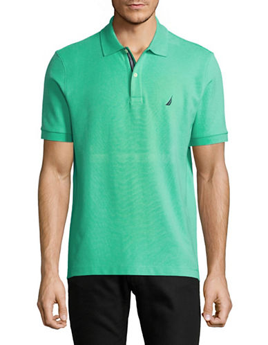 Nautica Slim-Fit Short-Sleeve Polo-GREEN-X-Large