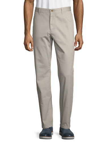 Nautica Garment Dyed Cotton Pants-GREY-36X32