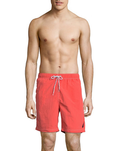 Nautica Classic Swim Trunks-ORANGE-Large