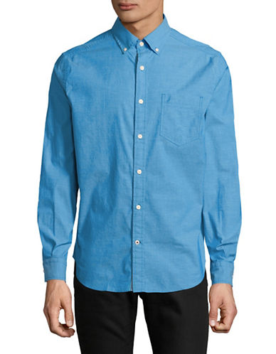 Nautica Classic-Fit Long-Sleeve Sportshirt-BLUE-Small
